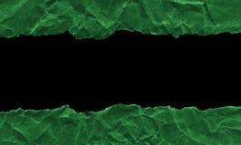 Утили темной ой-зелен бумаги на белой предпосылке r Готовая рамка для дизайна, шаблона стоковое фото