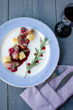 Утиная грудка с соусом вишни Стоковое Изображение RF
