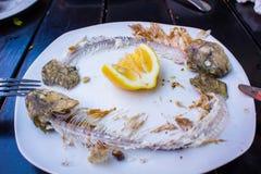 Утили зажаренных рыб Стоковые Фото