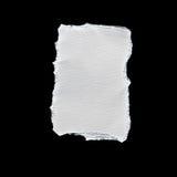 Утиль белой бумаги на черной предпосылке Стоковое Фото