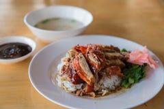 Утка жаркого над рисом стоковая фотография rf