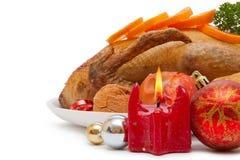 Утка жаркого. Обед рождества. Стоковая Фотография