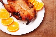 Утка жаркого с апельсинами Стоковое Изображение RF