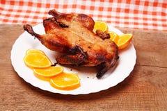 Утка жаркого с апельсинами Стоковое Фото