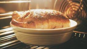 Утка жаря в духовке в печи акции видеоматериалы