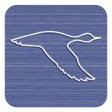 Утка летания силуэта вектора Стоковая Фотография
