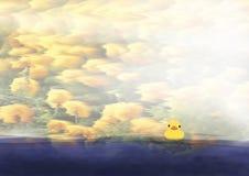 Утка на воде Стоковая Фотография RF