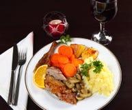 утка обеда горизонтальная Стоковая Фотография