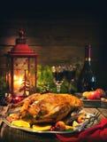Утка рождества жаркого с яблоками Стоковое Фото