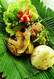 утка тарелки balinese этническая Стоковая Фотография