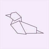 Утка Origami Стоковые Изображения