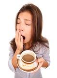 утомленная женщина зевая Стоковое фото RF