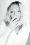 утомленная женщина Стоковое фото RF