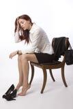 утомленная женщина Стоковое Изображение RF