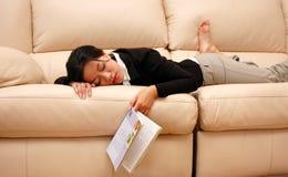 утомленная женщина Стоковое Изображение