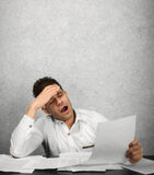 Утомленная деятельность бизнесмена Стоковые Фото