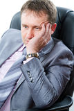 утомленное бизнесмена заботливое Стоковое Изображение