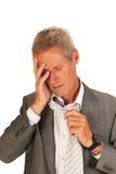 Утомленный бизнесмен Стоковые Фотографии RF