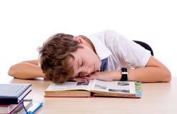 Утомленный студент Стоковые Изображения RF
