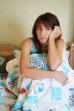 утомлянная девушка Стоковое фото RF