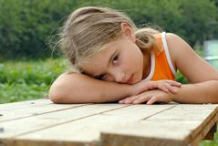 утомлянная девушка Стоковое Фото