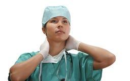 утомлянная женщина доктора стоковая фотография