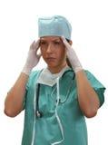 утомлянная женщина доктора стоковое изображение