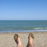 утомлянные ноги Стоковая Фотография