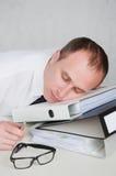 утомлянный бизнесмен Стоковое Фото