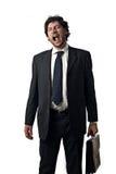 утомлянный бизнесмен Стоковые Фотографии RF