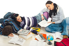 утомлянный изучать студентов Стоковое фото RF