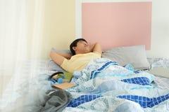 утомлянный студент стоковая фотография rf