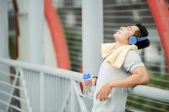 утомлянный jogger стоковое фото