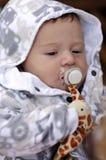 утомлянный pacifier младенца Стоковое Изображение