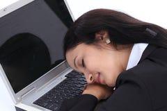 Утомленная молодая бизнес-леди Стоковое фото RF