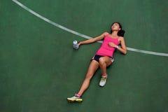 Утомленный бегун стоковое фото