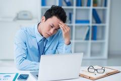 Утомленный бизнесмен Стоковое Изображение RF