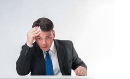 Утомленный бизнесмен Стоковые Изображения