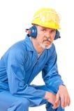 Утомленный взрослый работник стоковые изображения rf