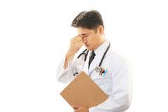 Утомленный врач Стоковая Фотография RF