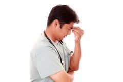 Утомленный доктор стоковая фотография