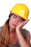 Утомленный рабочий-строитель Стоковое Изображение RF