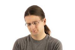 Утомленный смотря человек стоковое фото