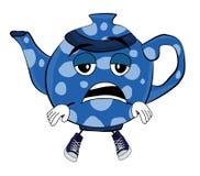 Утомленный шарж чайника Стоковые Фото