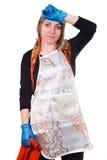 утомлянная домохозяйка Стоковая Фотография
