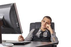 утомлянный бизнесмен стоковые изображения