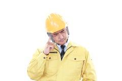Утомлянный и усиленный работник стоковая фотография