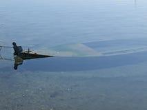 утонутая шлюпка Стоковые Изображения RF
