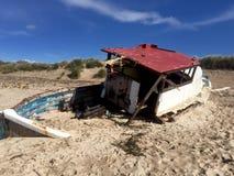 Утонутый в песок Стоковое Изображение RF