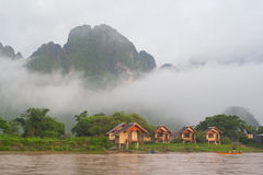 Утреннее время в Лаосе Стоковые Фото